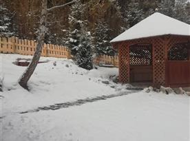 Altánek v zimě