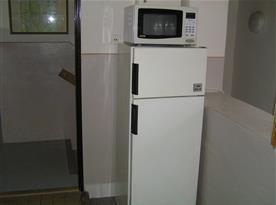 Lednice s mikrovlnkou
