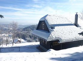 Chata Beskyd v zimě