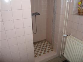 Koupelna s vanou, sprchovým koutem a umyvadlem