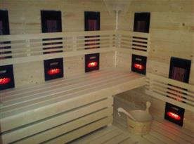 Sauna ve wellness centru